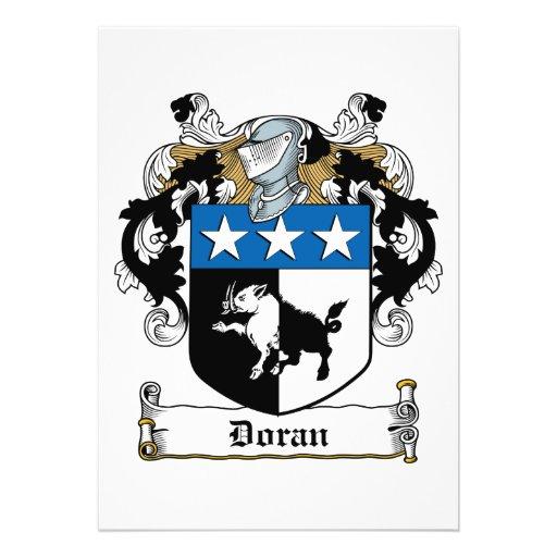 Doran Family Crest Personalized Invite