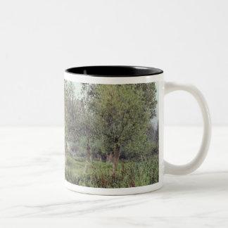 Dorchester Abbey, Near Wallingford Two-Tone Coffee Mug