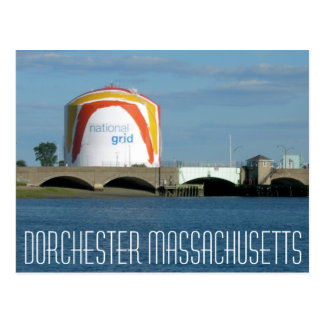 "Dorchester Massachusetts ""Boston Gas Tank"" Postcard"