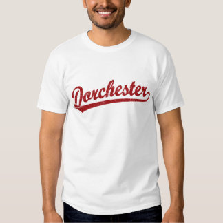 Dorchester script logo in red T-Shirt