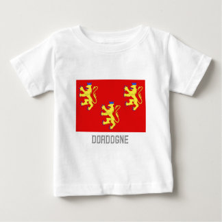 Dordogne flag with name baby T-Shirt