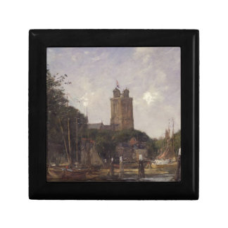 Dordrecht, The Great Church from the Canal by Euge Gift Box