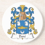 Dore Family Crest Drink Coasters