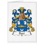 Dore Family Crest Greeting Card