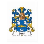 Dore Family Crest Postcard