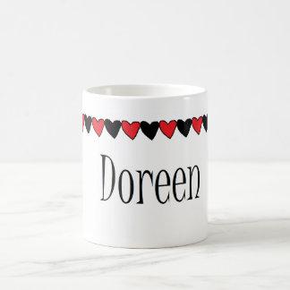 Doreen Hearts Name Mug