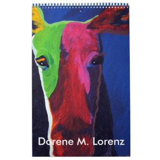 Dorene M. Lorenz Whimsical Animal Paintings Calendar