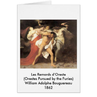 D'Oreste de Bouguereau - de Les Remords Tarjetón