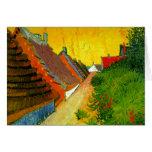 Dorfstrasse at Sainte-Maries painting by Van Gogh Greeting Card