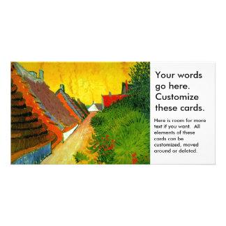 Dorfstrasse at Sainte-Maries painting by Van Gogh Card