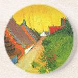Dorfstrasse at Sainte-Maries painting by Van Gogh Beverage Coasters