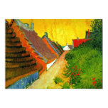 Dorfstrasse at Sainte-Maries painting by Van Gogh 5x7 Paper Invitation Card