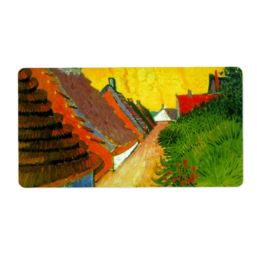Dorfstrasse at Sainte-Maries painting by Van Gogh Shipping Label