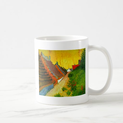 Dorfstrasse at Sainte-Maries painting by Van Gogh Classic White Coffee Mug
