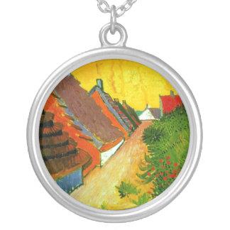Dorfstrasse at Sainte-Maries painting by Van Gogh Custom Jewelry