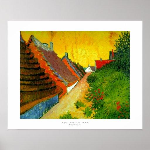 Dorfstrasse at Sainte-Maries painting by Van Gogh Poster