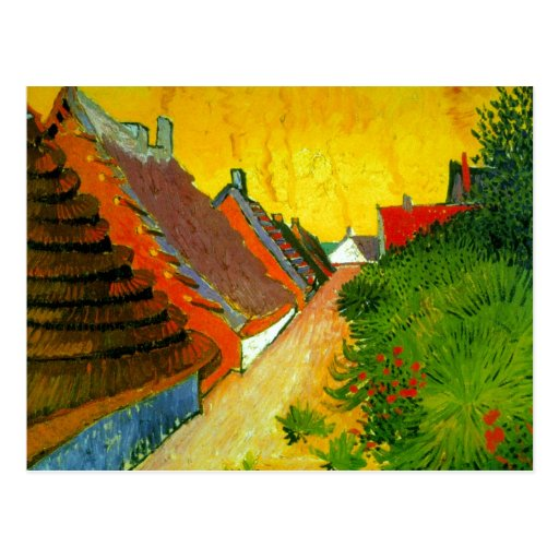 Dorfstrasse en la pintura de Sainte-Maries de Van  Tarjetas Postales