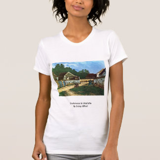 Dorfstrasse In Marlotte By Sisley Alfred T Shirt