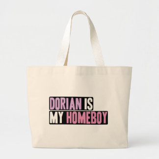 Dorian is my Homeboy Large Tote Bag