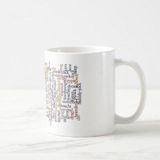 Doric Mug With Word Cloud