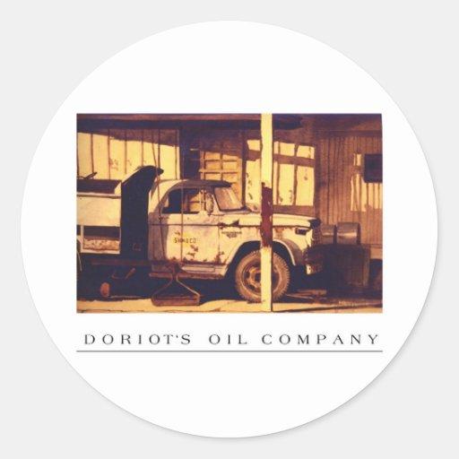 Doriot's Oil Company    Goshen, Indiana Round Stickers
