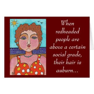 DORIS: Cuando gente redheaded… - tarjeta