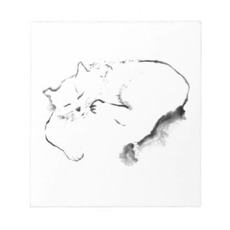Doris Day Z, cat Sumi-e [ink painting] Memo Pads