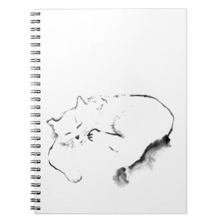 Doris Day Z, cat Sumi-e [ink painting] Note Books