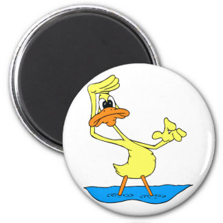 Doris Duck 2 Inch Round Magnet