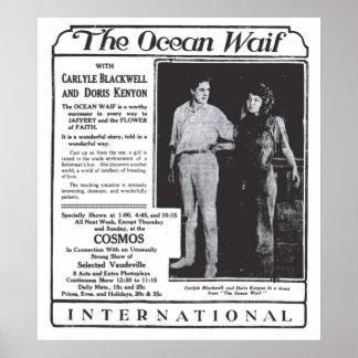 Doris Kenyon 1916 vintage movie ad poster