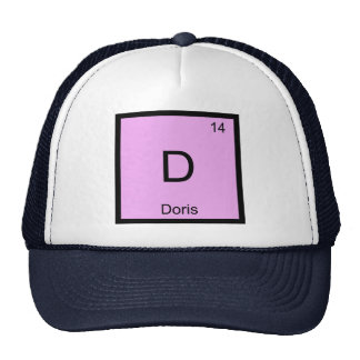 Doris Name Chemistry Element Periodic Table Mesh Hats