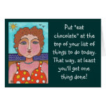"""DORIS:  Puesto """"coma el chocolate""""…. - tarjeta de"""