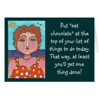 DORIS Puesto coma el chocolate … - tarjeta de