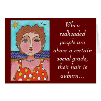 DORIS: When redheaded people... - card