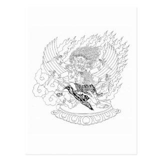 Dorje Phurba Line Drawing [postcard]