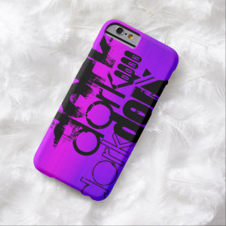 Dork; Azul violeta y magenta vibrantes Funda Para iPhone 6 Barely There