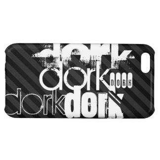 Dork; Black & Dark Gray Stripes iPhone 5C Covers