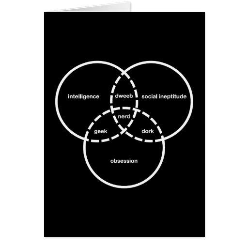 dork del dweeb del friki del diagrama del venn del tarjetón