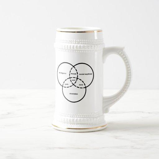 dork del dweeb del friki del diagrama del venn del tazas