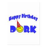Dork del feliz cumpleaños postal