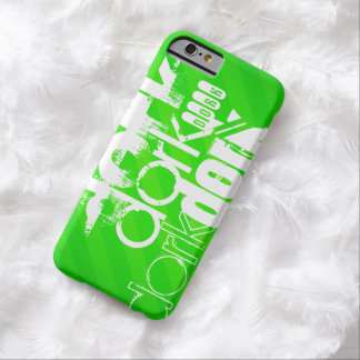 Dork; Neon Green Stripes Barely There iPhone 6 Case