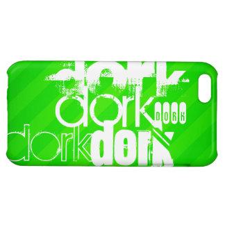 Dork; Neon Green Stripes iPhone 5C Cases