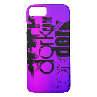 Dork; Vibrant Violet Blue and Magenta iPhone 8/7 Case