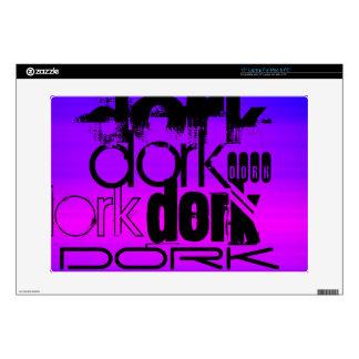 Dork; Vibrant Violet Blue and Magenta Decals For Laptops
