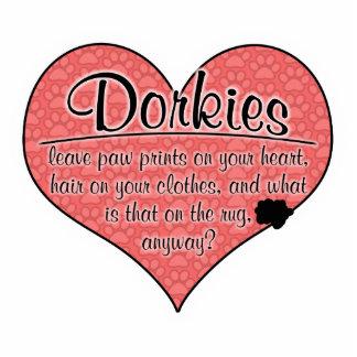 Dorkie Paw Prints Dog Humor Cutout