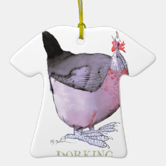 DORKING hen, tony fernandes Double-Sided T-Shirt Ceramic Christmas Ornament