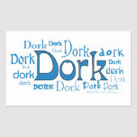 Dorks in all Shapes & Sizes Rectangle Stickers