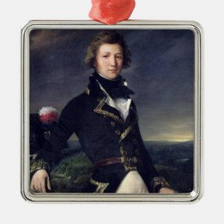 d'Orleans 1834 de Louis-Felipe Adorno Navideño Cuadrado De Metal