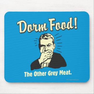 Dorm Food: Other Grey Meat Mouse Pad