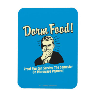 Dorm Food: Survive Microwave Popcorn Rectangular Photo Magnet